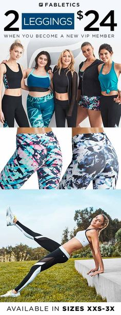 Discover casual, chic and affordable with Fabletics by Kate Hudson and find your favorite Leggings now 2 for $24 when you become a VIP Member. As a VIP, you�ll enjoy a new personalized styles each month, as well as exclusive pricing, early access to sales & free shipping on orders over $49. Don�t think you�ll need something new every month? No problem � click �Skip The Month� in your account by the 5th. Take our 60 second quiz to unlock this special offer!