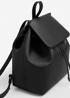 Front lapel backpack - Women in 2020 Stylish Backpacks, Cute Backpacks, Backpack Bags, Leather Backpack, Mochila Kpop, My Bags, Purses And Bags, Mango Bags, Snap Bag