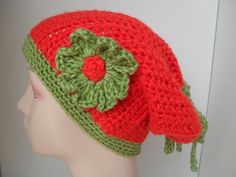 Orange and Green Flower - SCATBAND (Scarf-Hat-Headband) | Surprise Designs