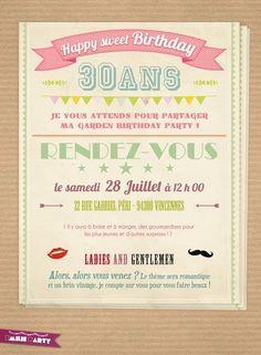 carte invitation anniversaire 40 ans virtuelle gratuite | carte invitation anniversaire ...