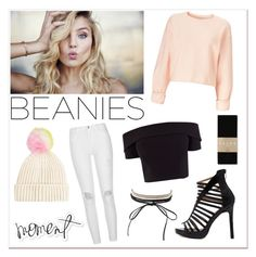 """Beanies ♥♥♥"" by fake-gigi ❤ liked on Polyvore featuring Coast, Topshop, River Island, Miss Selfridge, Charlotte Russe, Heidi Swapp and Falke"