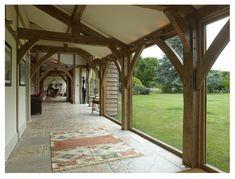 Buckinghamshire Barn - Border Oak - oak framed houses, oak framed garages and structures. Orangery Extension, Cottage Extension, Log Home Plans, Barn Plans, House Plans, Future House, My House, Garage House, Barn Conversion Interiors