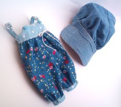 NEW 2 piece set  overall and denim cap for by RainbowDaisies