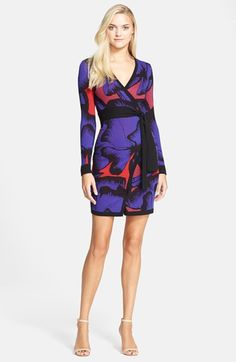 Diane von Furstenberg 'Leandra' Pattern Wrap Dress available at #Nordstrom
