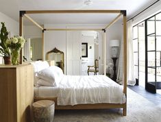 Should We Be Floating All Of Our Furniture??? A Potential Trend We Think Is On The Rise - Emily Henderson | design trends, interior design Dream Master Bedroom, Home Bedroom, Master Suite, Modern Bedroom, Bedroom Interiors, Bedroom Retreat, Furniture Styles, Cool Furniture, 1930s Furniture