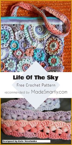 Life Of The Sky - Free Crochet Bag Pattern #crochetpattern #crochetbag #freecrochetpatterns