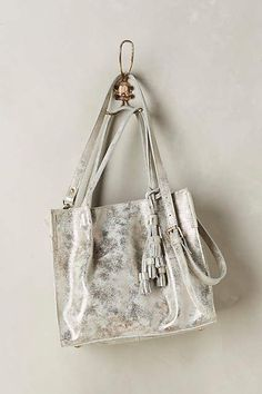 c98926af6cf Tasseled Leather Tote - anthropologie.com  anthrofave Leather Tassel,  Leather Bags, Metallic