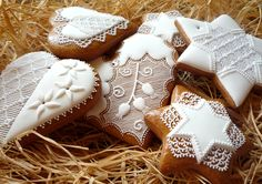 Vianocne Medovniky | Vitajte na našej stránke. Sweet Cooking, Holy Night, Silent Night, Royal Icing, Burlap Wreath, Holi, Gingerbread, Cookies, Desserts