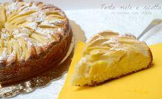 La torta mele e ricotta è una torta sofficissima grazie ala presenza di ricotta nell'impasto che non contiene nè burro nè olio quindi è anche molto leggera,