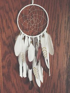 Brown and Gold Bohemian dream catcher by KariWidener on Etsy