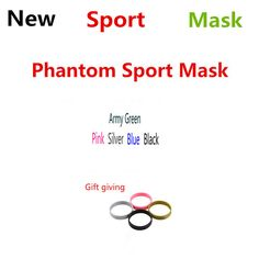 Dropshipping Newes Black Silver Blue Pink Men Women Gym Phantom Outdoor Mask 2.0 Running Training Sport Fitness Mask Boxing