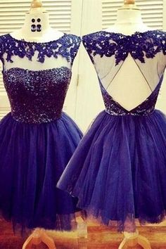 Newest Navy Blue ,A-Line Appliques Homecoming Dresses,Homecoming Dress with Lace Appliques Sexy Formal Dresses, Mini Prom Dresses, Prom Dresses 2017, Dresses Short, Sweet 16 Dresses, Pretty Dresses, Dress Prom, Party Dress, Dress Lace
