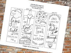 Bible Journaling:  Jesus Let Your Light Shine Down Margin Art by OneChristianChick on Etsy