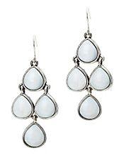 White Set Stone Chandelier Earrings, Lucky Brand