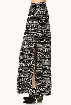 #F21CRUSH Tribal Print Maxi Skirt | FOREVER21 - 2000066053