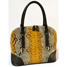 Karen Handmade Genuine Exotic Leather Python Snake Skin Women Designer Handbag