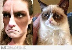 Grumpy cat cosplay I can be grumpy cat lol