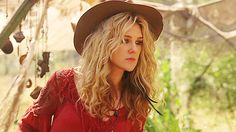 American Horror Story Coven, boho hat, drop waist red dress, high boots with lace trim leg boot cuffs