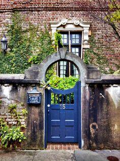 Old Charleston cobalt gate