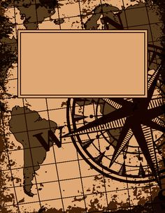 Free printable vintage map binder cover template. Download the cover in JPG or PDF format at http://bindercovers.net/download/vintage-map-binder-cover/