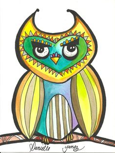 watercolor OWL PAINTING on 6x8 inch watercolor paper