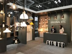 Original btc at icff new york Lighting Showroom, Lighting Store, Interior Lighting, Lighting Design, Display Lighting, Electrical Shop, Showroom Interior Design, Shop House Plans, Shop Front Design