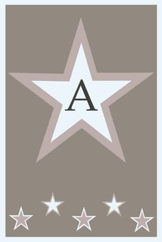 Letter A Greeting Card ★ Margreet™