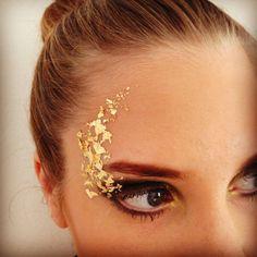 Gold leaf makeup by Emma Davis