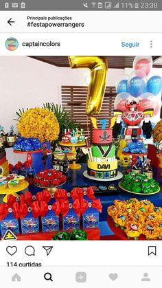 Power Rangers Samurai, Power Rangers Ninja Steel, Power Rangers Dino, Power Ranger Cake, Power Ranger Party, Power Ranger Birthday, Hulk Marvel, Marvel Comics, Spiderman