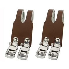 Double Leather Pedal Straps