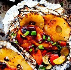 Grilled Hawaiian Barbecue Chicken Foil | Food Recipes