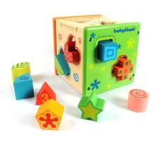 Babylian Educational Sorting Cube Toys Bricks of Different Wooden Shapes and…