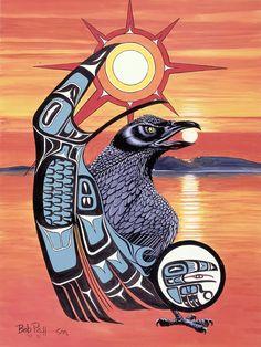 Raven Steals Sun by Bob Patterson - Raven Steals Sun Painting ...
