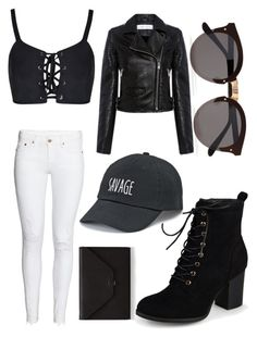 """Savage"" by skinnyjeansamd ❤ liked on Polyvore featuring H&M, IRO, Journee Collection, Illesteva, Valextra and SO"