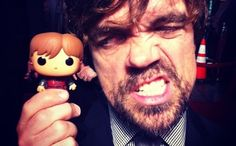 Well who wouldn't want to play with their very own Tyrion? | Peter Dinklage (and friend).