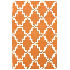 Dahmar Trellis 100% Wool Hand-Tufted Area Rug in Pumpkin design by... ($280) ❤ liked on Polyvore featuring home, rugs, wool rugs, trellis wool rug, trellis rug, nuloom area rugs and nuloom