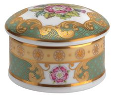 Royal Worcester Queens 90th Birthday Trinket Box