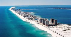 Located south of Pensacola and connected via bridges to the mainland, Pensacola Beach is part of Santa Rosa Island, a barrier island facing the Gulf of Mexico. Florida Vacation Spots, Visit Florida, Florida Travel, Florida Beaches, Hawaii Travel, Vacation Places, Florida Keys, Vacation Ideas, Pensacola Lighthouse