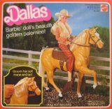 DALLAS Barbie Doll's Beautiful Golden Palomino! Horse (1982)