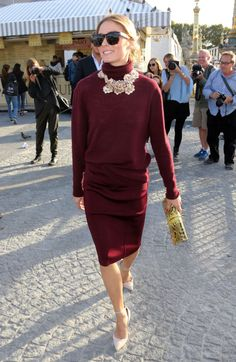 Olivia Palermo arriving at the Nina Ricci show in Paris. See all of the model's best looks.