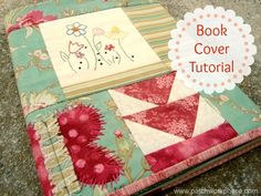 Book Cover Tutorial {52 UFO Quilt Block Pick Up} #easysewingprojects #bookcover #tutorial