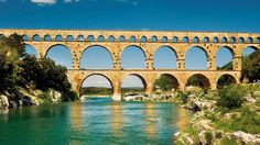 outside of Nimes - Roman aqueduct Pont du Gard extends underground 30 klms to Nimes