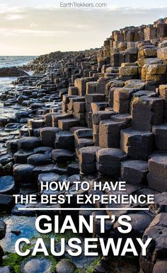 How to visit the Giant's Causeway in Northern Ireland, with tips to have the best experience. We visited Giant's Causeway at sunset, one of the best times of day for photography. Learn more in this post. Giant's Causeway | Northern Ireland | Travel Photography