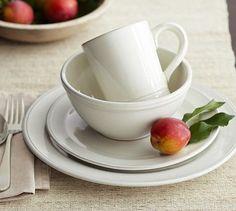 fav plates :) Isabella Dinnerware - Ivory #potterybarn