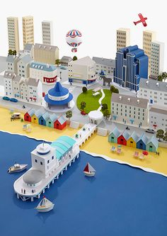 Paper Cities by Hattie Newman, via Behance