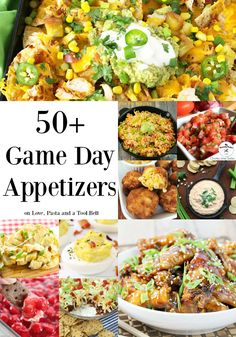 Get ready for any big game day with these 50+ Game Day Appetizers- Love, Pasta and a Tool Belt | recipes | football food | party food | party ideas | game day food | snacks |