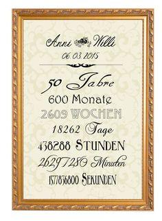 Digitaldruck - Kunstdruck zum 50. Hochzeitstag - ein Designerstück von Foto-Design-Digital-Art bei DaWanda