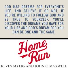 From Home Run: Learn God's Game Plan for Life and Leadership