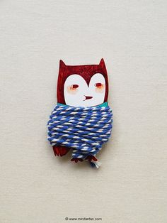 Handmade Owl Thread Holder with 2 Meter Bakers Twine by minifanfan, $12.50