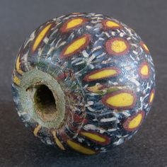 Ancient Jatim Glass Bead Ø21MM | 6 to 9th Century East Java Indonesia | Bidding starts at 110$